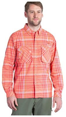 ExOfficio Men's Air Strip Macro Plaid LS Shirt