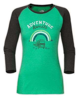 The North Face Women's 3/4 Sleeve Adventure Waits Tee