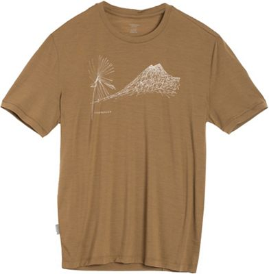 Icebreaker Men's Tech Lite SS Crewe Cabbage MTN Top