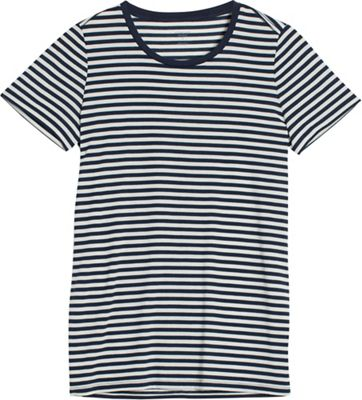 Icebreaker Women's Tech Lite SS Crewe Stripe Top