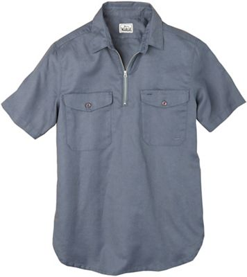Woolrich Men's Cotton Linen Half Zip Popover