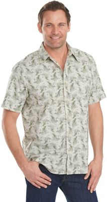 Woolrich Men's Walnut Run Print SS Shirt