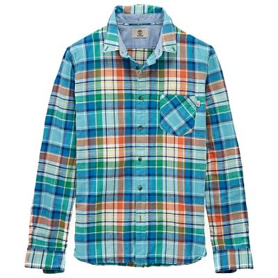 Timberland Men's Mystic River Linen Plaid LS Shirt
