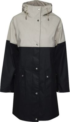 Ilse Jacobsen Women's True Rain Rubberized Color Block Coat