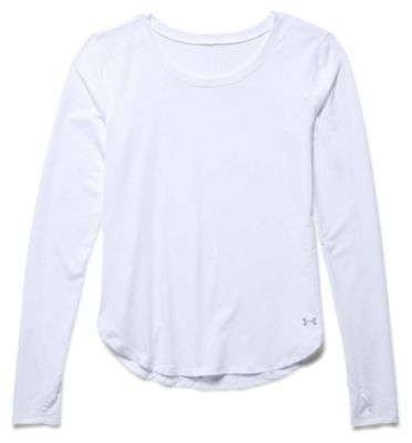 Under Armour Women's Fly By Solid LS Top