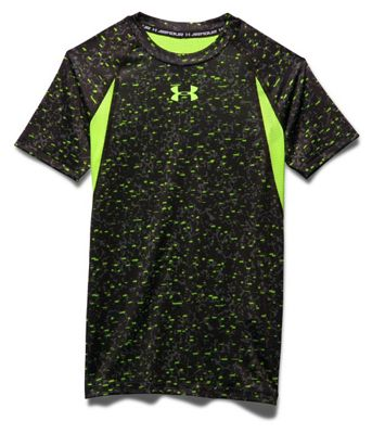 Under Armour Boys' Heatgear Armour UP Printed SS Fitted T Shirt