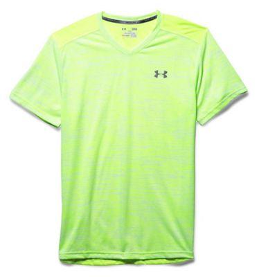 Under Armour Men's Streaker Printed V Neck SS Tee