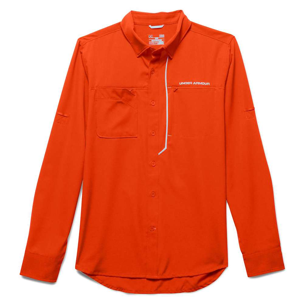 Under armour men 39 s armourvent fishing woven ls top at for Jawbone fishing shirts