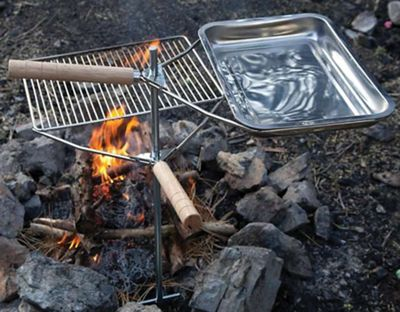Camp Chef Lumberjack Over The Fire Grill and Pan