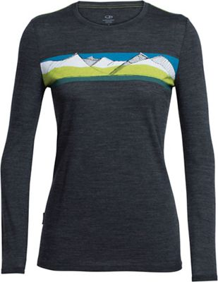 Icebreaker Women's Tech Lite LS South Alps Crewe