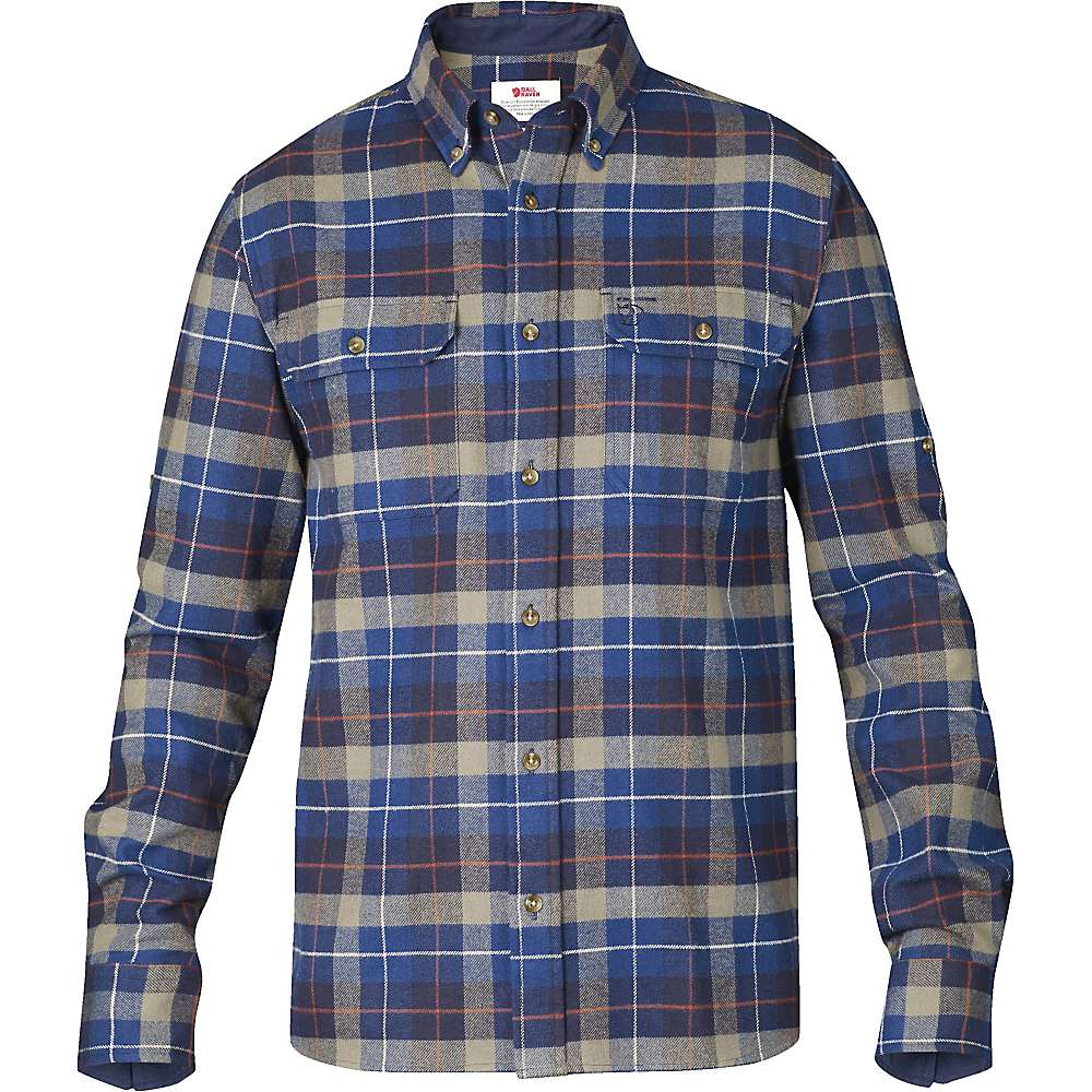 Fjallraven men 39 s sarek heavy flannel shirt ebay for Heavy plaid flannel shirt