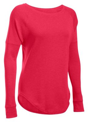 Under Armour Women's Favorite Waffle Open Neck LS Top