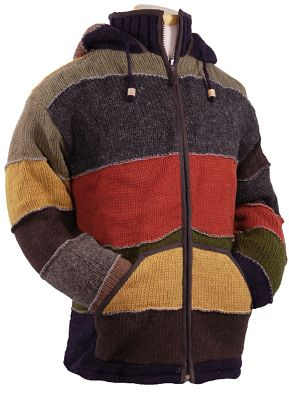 Laundromat Men's Patchwork Fleece Lined Sweater
