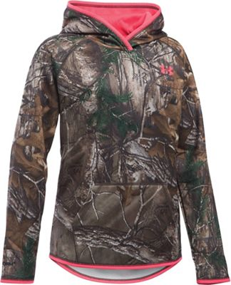 Under Armour Girl's Icon Camo Logo Hoodie