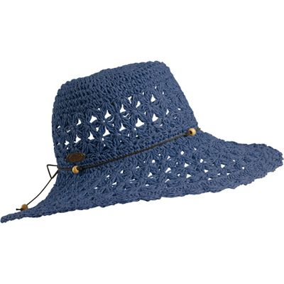 Turtle Fur Women's Vermont Collection Chara Crocheted Straw Sun Hat with Beaded Band