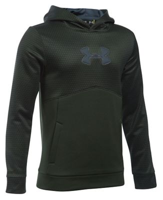 Under Armour Boys' Armour Fleece Storm Mid Logo Hoodie