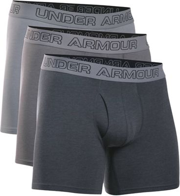 Under Armour Men's Cotton Stretch 6IN Boxer Short - 3 Pack