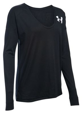Under Armour Women's Favorite LS Wordmark Back Top