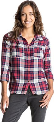 Roxy Women's Plaid On You LS Top