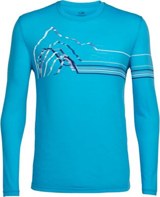 Icebreaker Men's Tech LS Crewe - Graphic Collection