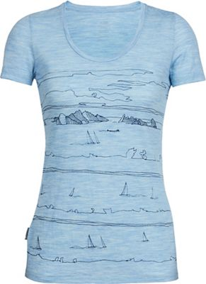 Icebreaker Women's Tech Lite SS Scoop Neck Top - Graphic Collection