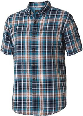 Royal Robbins Men's Mid-Coast Seersucker Plaid SS Shirt