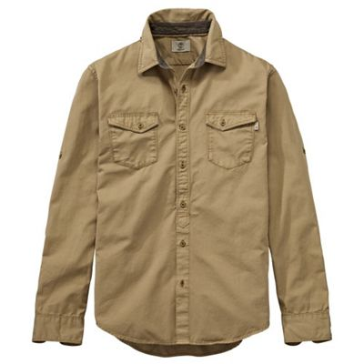 Timberland Men's Slim Twill LS Cargo Top