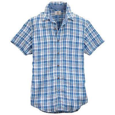 Timberland Men's SS Parker River Plaid Linen Shirt