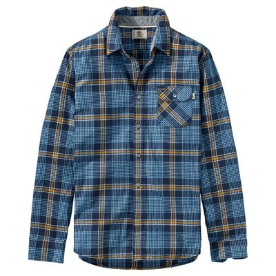 Timberland Men's Twill Contemporary Plaid LS Shirt