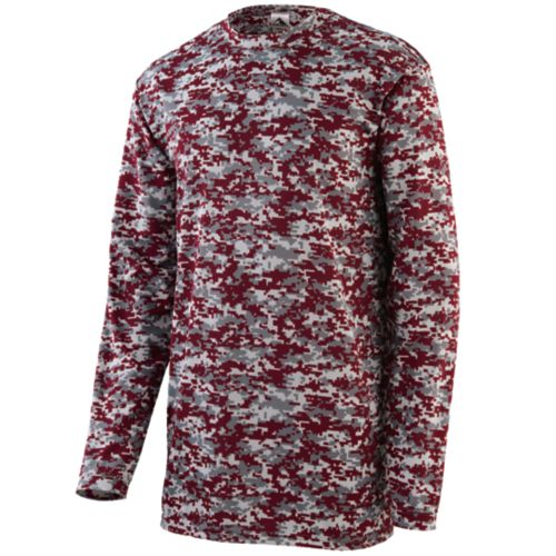 DIGI CAMO WICKING LONG SLEEVE T-SHIRT - YOUTH