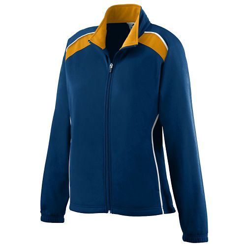 LADIES BRUSHED TRICOT TRI-COLOR JACKET