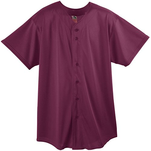 MESH BUTTON FRONT BASEBALL SHIRT-YOUTH