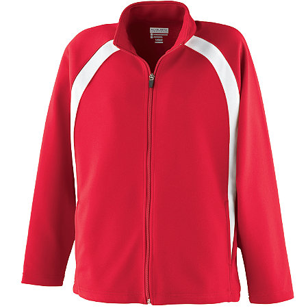 GIRLS DOUBLE KNIT COLOR BLOCK JACKET