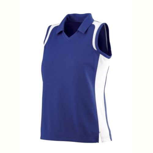 LADIES SLEEVELESS WICKING TEXTURED GAMEDAY SPORT SHIRT