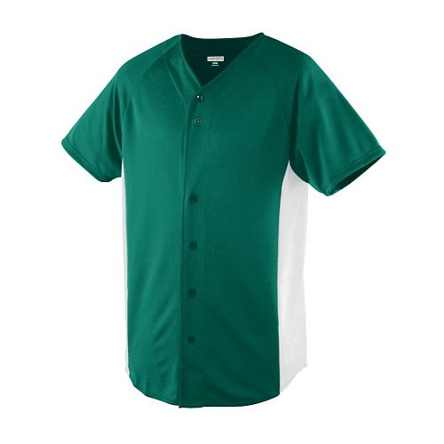 WICKING COLOR BLOCK BUTTON FRONT JERSEY