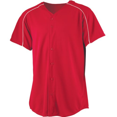 WICKING BUTTON FRONT BASEBALL JERSEY-YOUTH