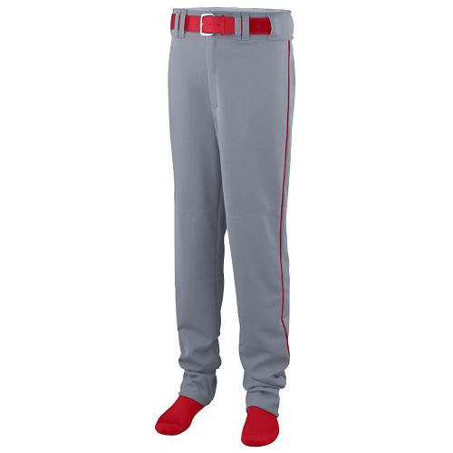 OPEN BOTTOM BASEBALL/SOFTBALL PANT WITH PIPING - YOUTH