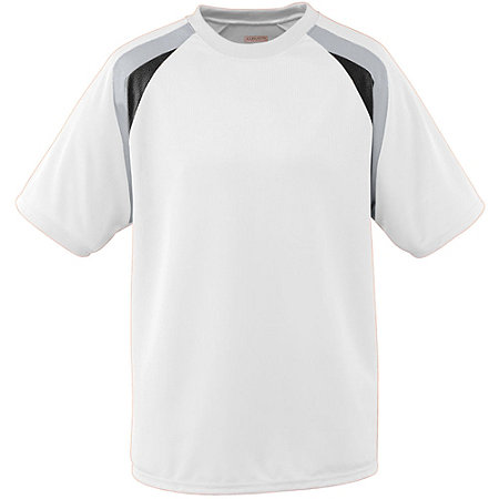 YOUTH WICKING MESH TRI-COLOR JERSEY