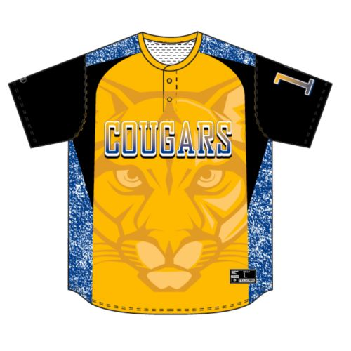 SUBLIMATED BASEBALL JERSEY - TWO BUTTON