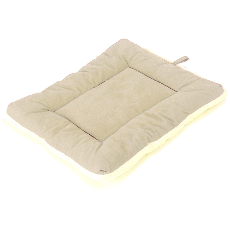 Pet Dreams Classic Sleep-eez Khaki Reversible Dog Crate Pad