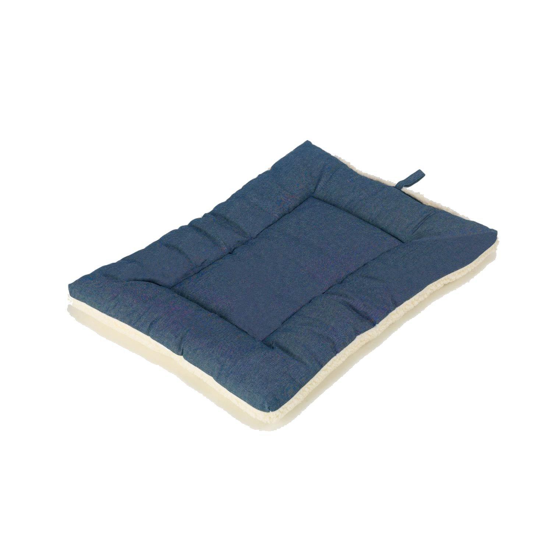 Pet Dreams Classic Sleep-eez Denim Blue Reversible Dog Crate Pad