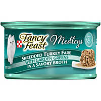 Fancy Feast Elegant Medleys Shredded Turkey Fare Adult Canned Cat Food in Broth