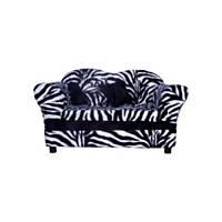 Fantasy Furniture Homey Sofa with Wood in Zebra Stripe