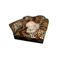 Fantasy Furniture Homey Sofa in Leopard Stripe