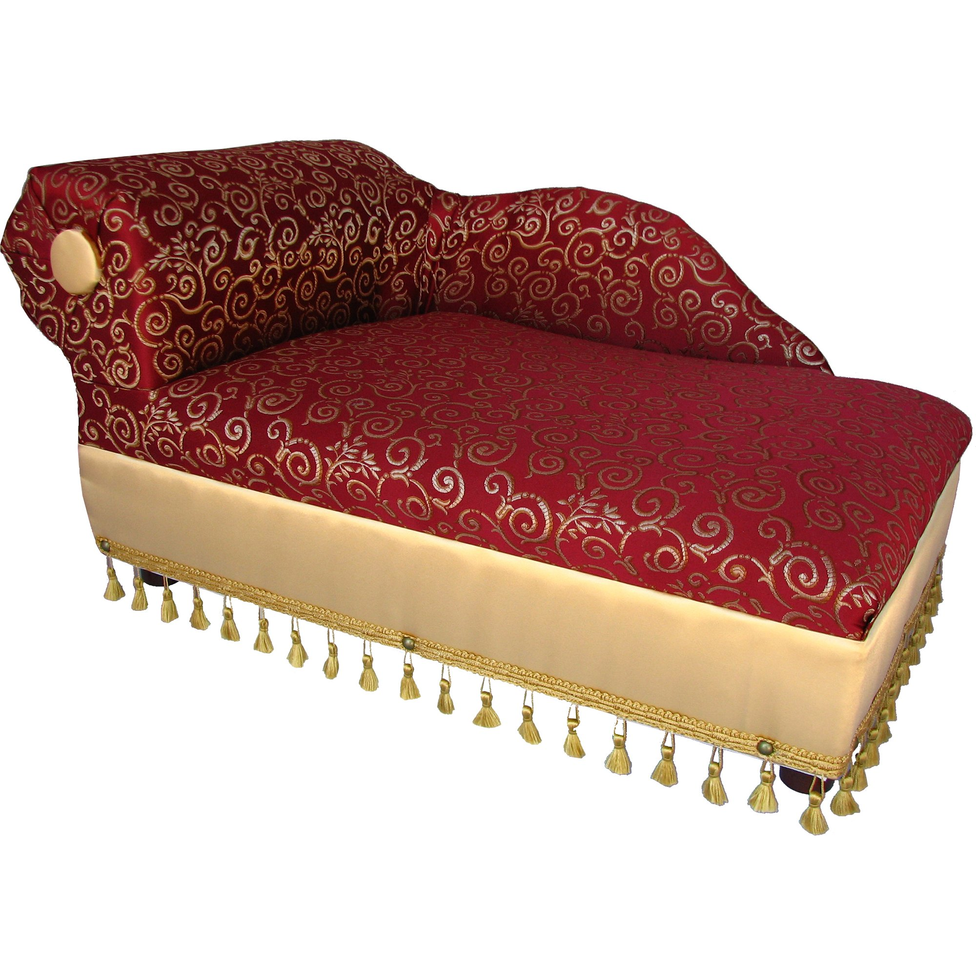 Fantasy Furniture Cleopatra Chaise Red/Gold Pattern