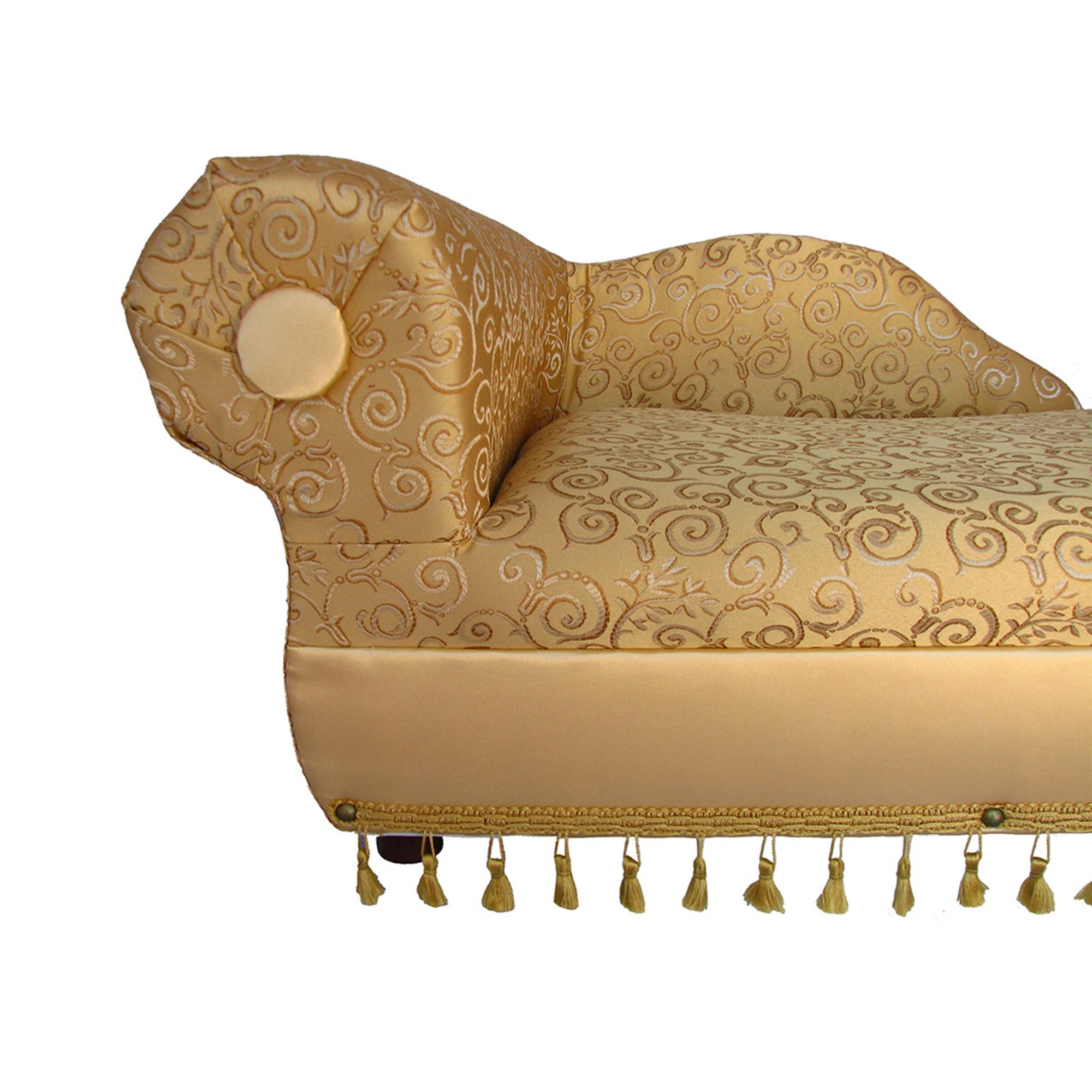 Fantasy Furniture Cleopatra Chaise Gold/Ivory Pattern