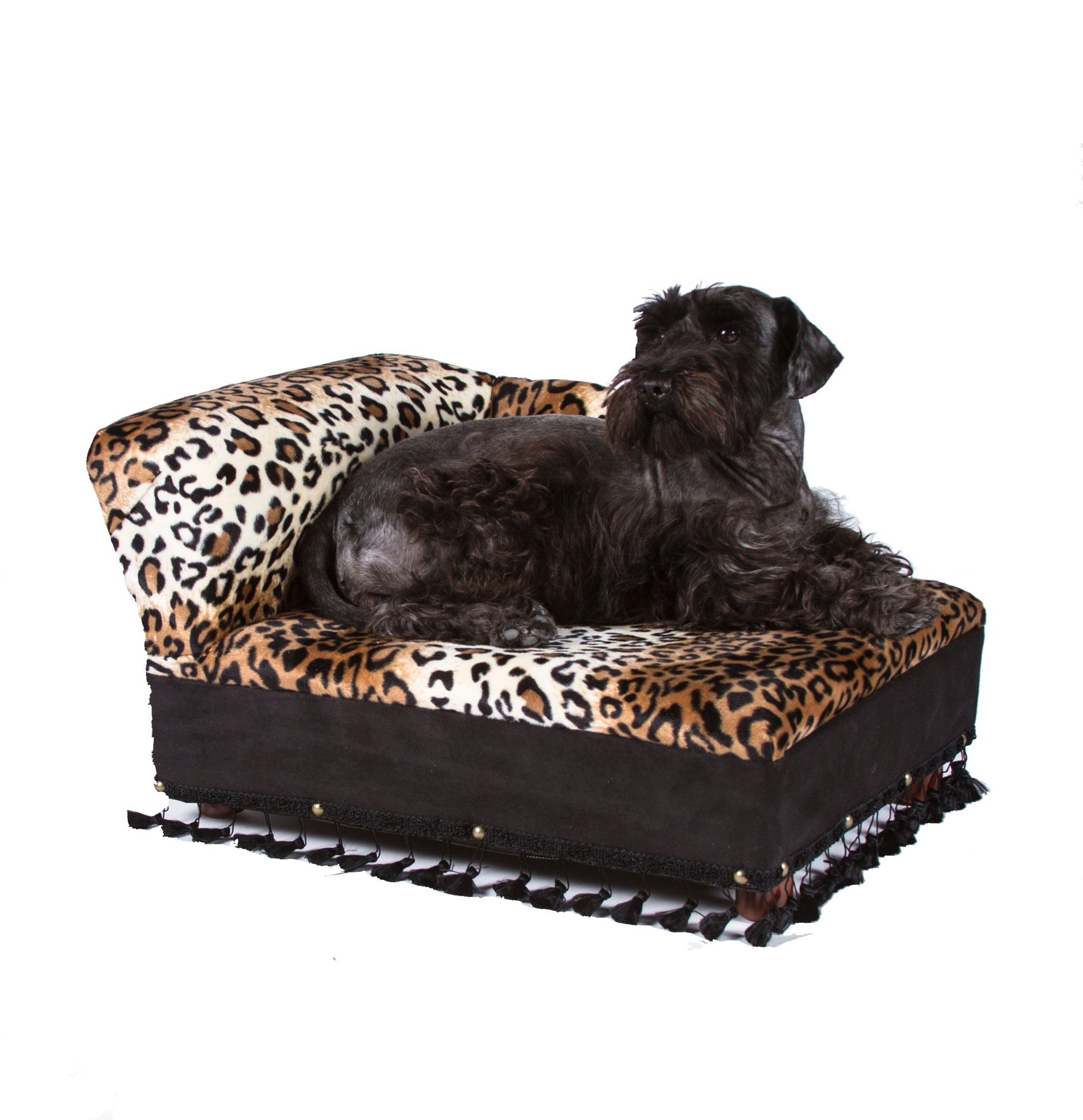 Fantasy furniture cleopatra chaise leopard print petco for Animal print chaise