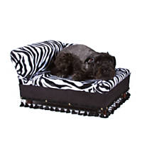 Fantasy Furniture Cleopatra Chaise Zebra Stripe