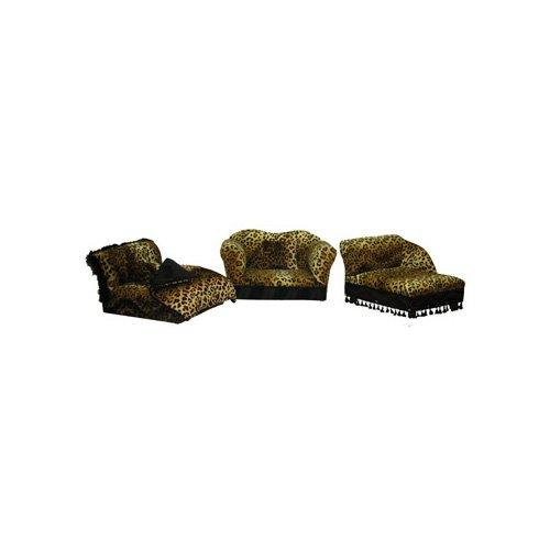 Fantasy Furniture 3 Piece Furniture Set in Leopard Stripe