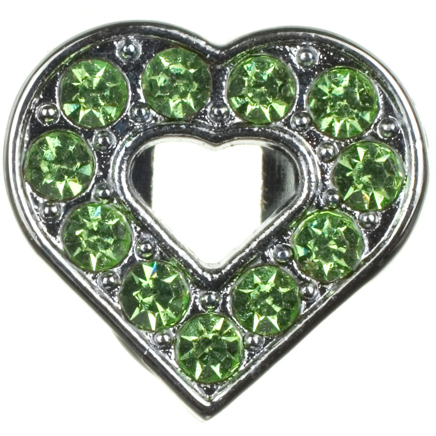 Fashion Angels Create-a-Collar 10 mm Green Open Heart Charm